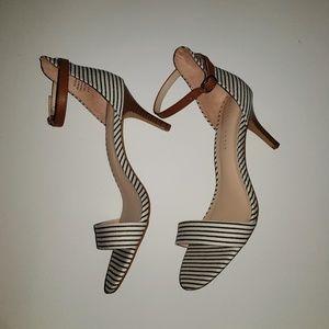 Kelly & Katie Striped Ankle Strap Sandal